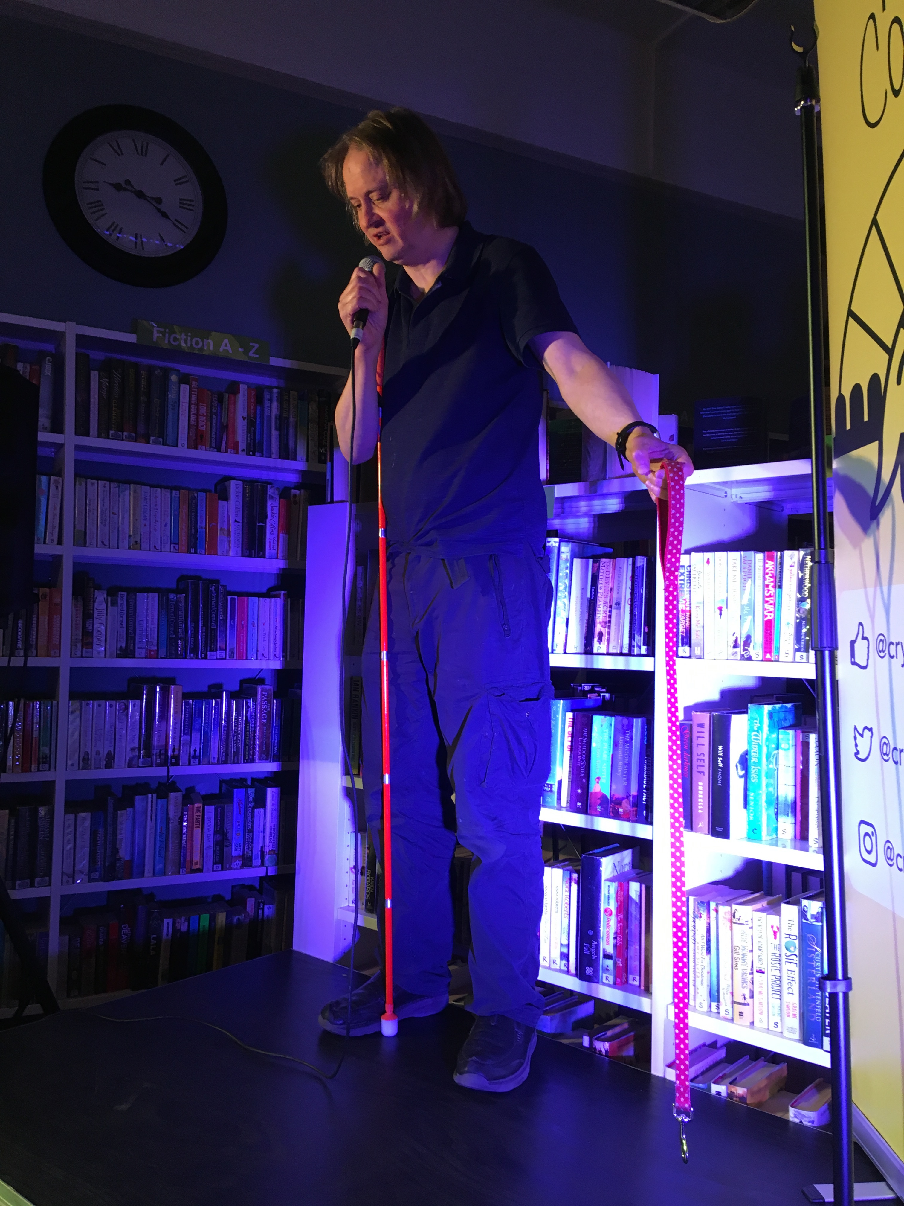 Picture of Stephen Portlock at one of his gigs